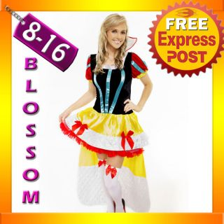 8408 Ladies Snow White Queen Princess Disney Fancy Dress Up Halloween