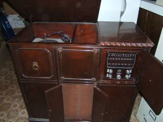 capehart tube radio record player vintage antique time left $