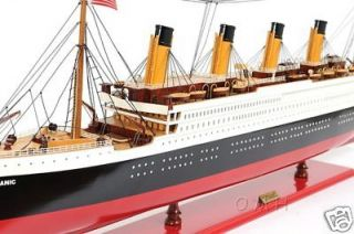 RMS Titanic Ocean Liner Wooden Model 25 White Star Cruise Ship Built