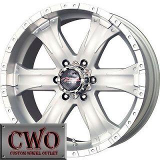 20 Silver Chaos 6 Wheels Rims 6x139.7 6 Lug Titan Tundra GMC Chevy
