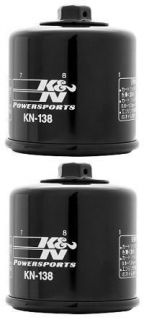 Powersports Black Oil Filters (Pack of 2) 05 07 Suzuki LT A700X