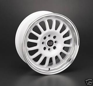 16 ROTA TRACK R WHITE RIMS WHEELS 16x7 +40 4x100 FIT MINI COOPER CIVIC