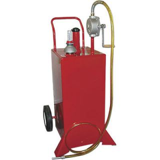 gas fuel caddy 30 gallon 2 way rotary hand pump
