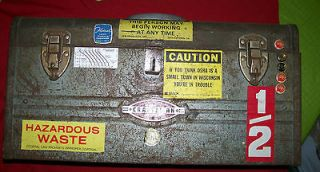 Vintage Craftsman Metal Tool Box with metal tray~ Industrial Tool Box