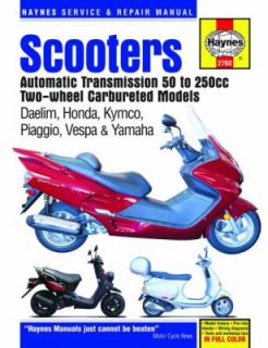 Scooters Automatic Transmission 50 to 250cc Two Wheel Carbureted
