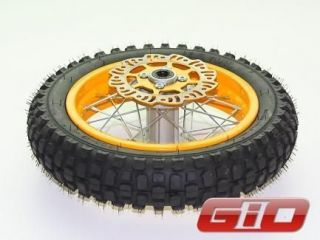 giovanni 125cc dirt bike rear wheel complete black includes rear