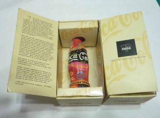 coca cola folk art bottle australia 1996 coke rare collect