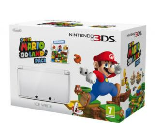 Nintendo 3DS Super Mario 3D Land Flame Red System Package w/Games