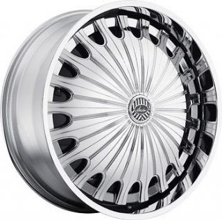 24 DAVIN REVOLVE SPINNERS Sham WHEEL SET 24x9.0 RIMS 5   6 Lug