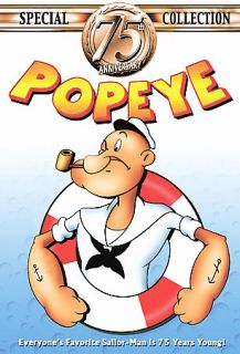 Popeye   75th Anniversary Special Collection DVD, 2004, 4 Disc Set