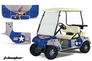 CLUB CAR GOLF CART PARTS GRAPHIC KIT WRAP AMR RACING DECALS