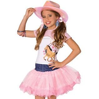 Planet Pop Star Cowgirl Large 12 14 Halloween Costume Child Girl Pink