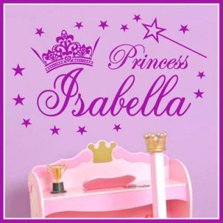 name princess girl vinyl wall decals stickers art 044 time