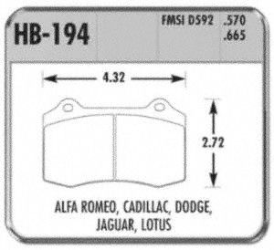 Hawk Performance HB194F.570 Disc Brake Pad