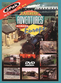 Railway Adventures Across Europe   3 Pak DVD, 2004, 3 Disc Set