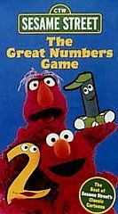 Sesame Street   The Great Numbers Game VHS, 1998