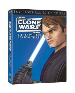 Star Wars The Clone Wars   The Complete Season Three DVD, 2011, 4 Disc