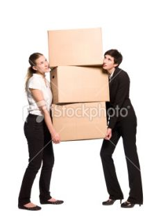 Women with cardboard boxes  Stock Photo  iStock