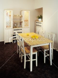 stock photo 11830198 wooden table and chairs