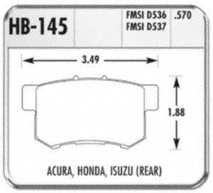 Hawk Performance HB145F.570 Disc Brake Pad