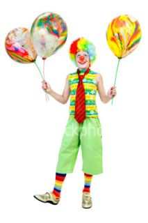 stock photo 1941472 young clown with balloons