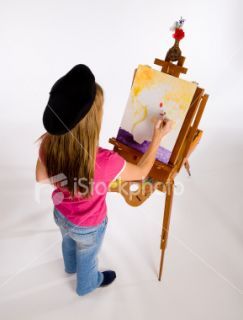 Young Girl Artist Series Royalty Free Stock Photo
