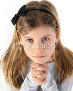 stock photo 12064082 little girl is praying