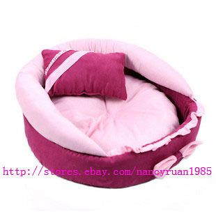 Cute Princess Pink Pet Dog Cat Sofa Bed House +a Pillow Small