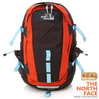 bn the north face hot shot laptop backpack brown orange