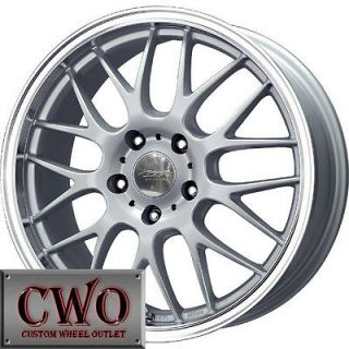 14 Silver MB Motoring Mesh X Wheels Rims 4x100 4 Lug Civic Mini G5