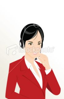 phone operator Royalty Free Stock Vector Art Illustration