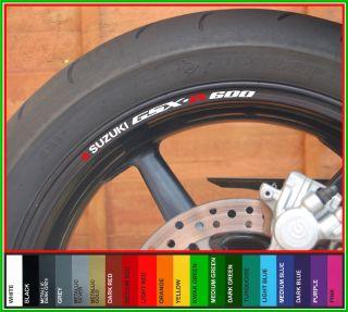 SUZUKI GSXR 600 Wheel Rim Stickers gsx r gsxr600 gsx r k1 k3 k4 k5 k6