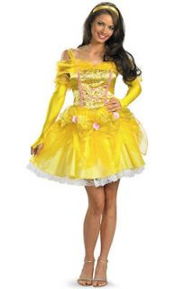 disney princess sassy belle adult costume size s 4 6