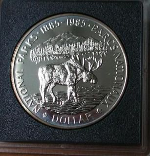 1985 moose silver dollar great gift  24