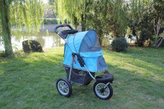New BestPet Sporty Blue Pet Jogger Jogging Dog Cat Stroller Carrier