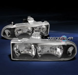 98 04 CHEVY S10/BLAZER PICKUP TRUCK CRYSTAL HEADLIGHTS LAMP BLACK 99