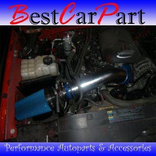 BCP BLUE 99 06 Sierra V8 4.8L/5.3L/6.0L Heat Shield Cold Air Intake