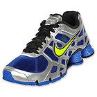 Nike Mens Shox Turbo+ 12 Running Shoe Silver/Blue/Yellow(Volt)