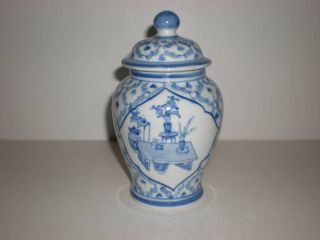 seymour mann fine porcelain china blue still life urn time