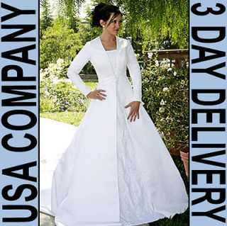 Chastity MODEST Long Sleeve Wedding Dress Gown Size 16 Ivory