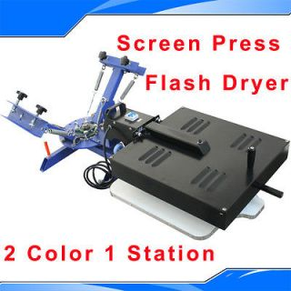 Color 1 Station Silk Screen Printing Machine Press Equipment Flash