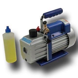Stage 3CFM 1/4HP Rotary Vane Vacuum Pump HVAC Air Condition