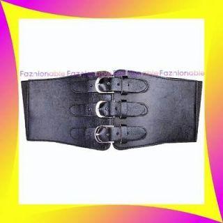 41 46 Womens Black Stretch Elastic High Waist Corset WIDE Belt