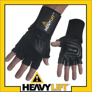 heavylift wristwrap weight lifting exercise gloves med