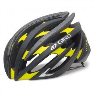 Giro Aeon Matte Black Yellow Livestrong bicycle helmet road bike Med