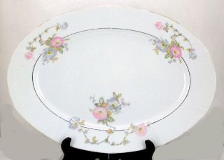victoria china czechoslovakia 15 1 4 platter pink vit25 time