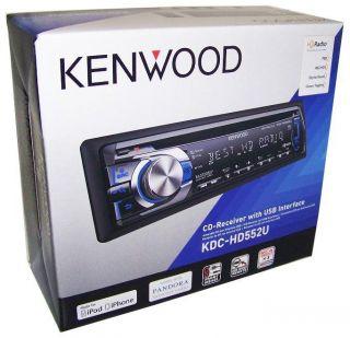 KENWOOD KDC HD552U Single Din Car Radio/USB/iPod/iPhone/Pandora