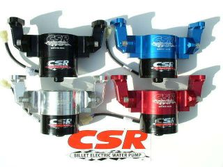NEW CSR BILLET ELECTRIC SBC WATER PUMP #901 WITH BOTTOM FITTING