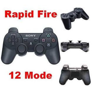 PS3 modded Rapid Fire Wireless Controller 12 mode Black New For mw3