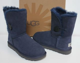 ugg bailey button short navy boots new in box
